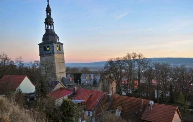 The Leaning Tower Of Bad Frankenhausen Bad Frankenhausen, Germany