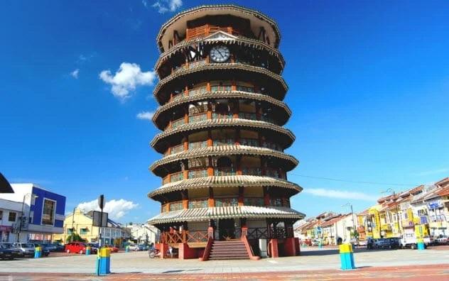 The Leaning Tower Of Teluk Intan, Malaysia