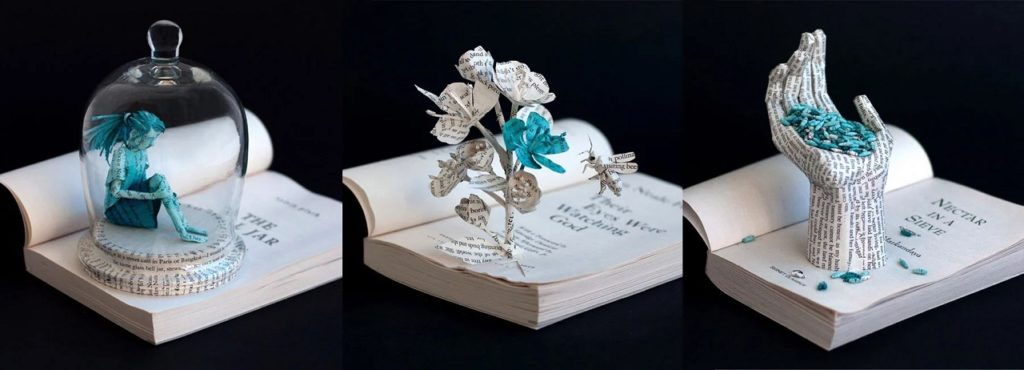 Bethany Bickley-Book pages turning into sculptures (1)