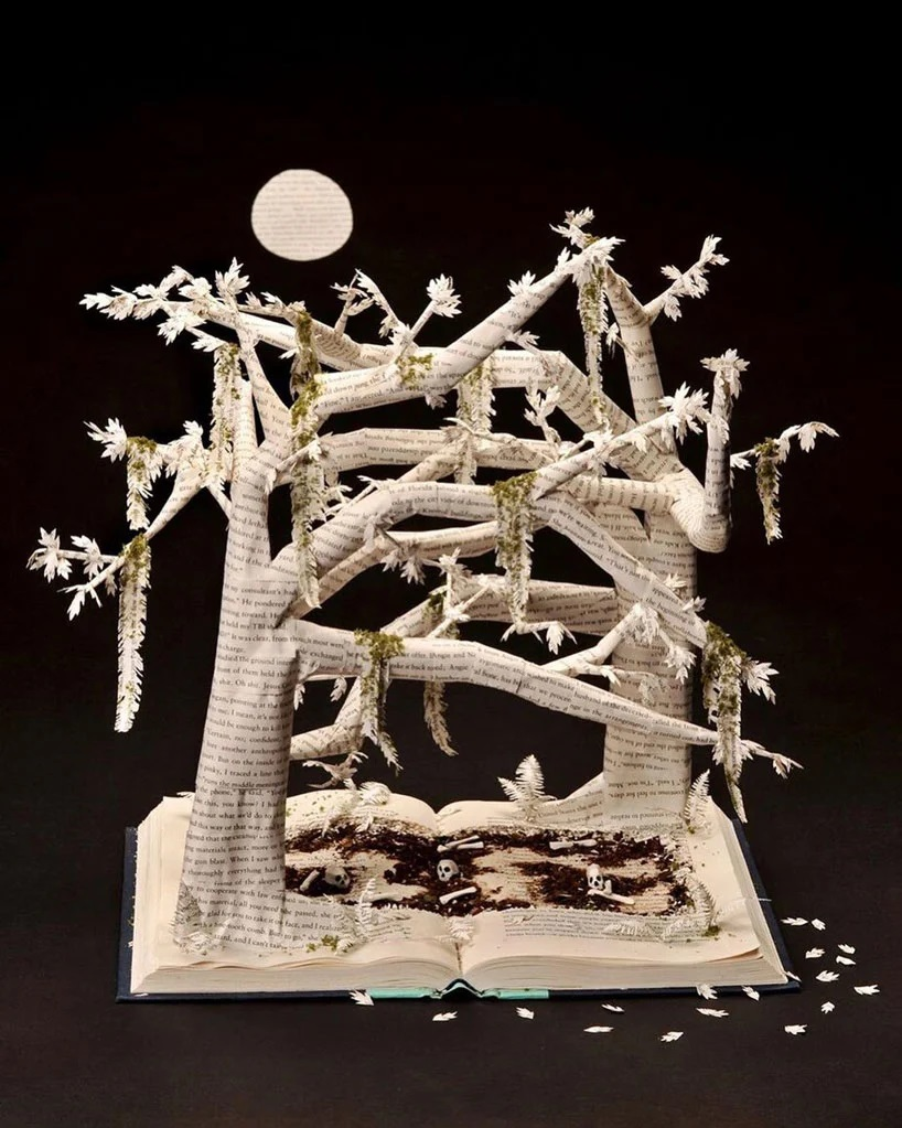 Bethany Bickley-Book pages turning into sculptures (10)