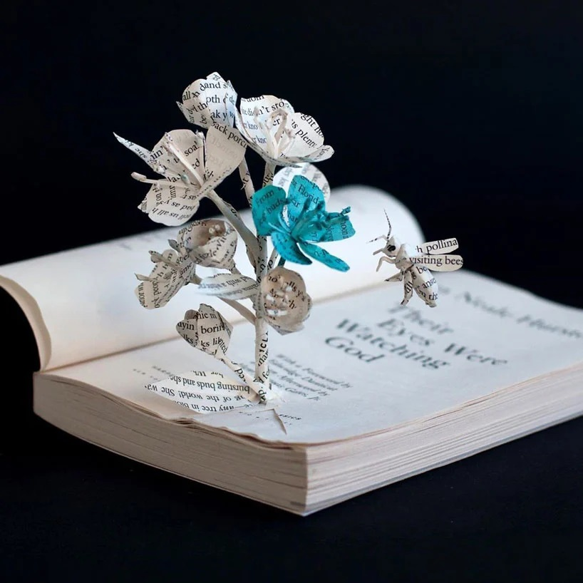 Bethany Bickley-Book pages turning into sculptures (4)