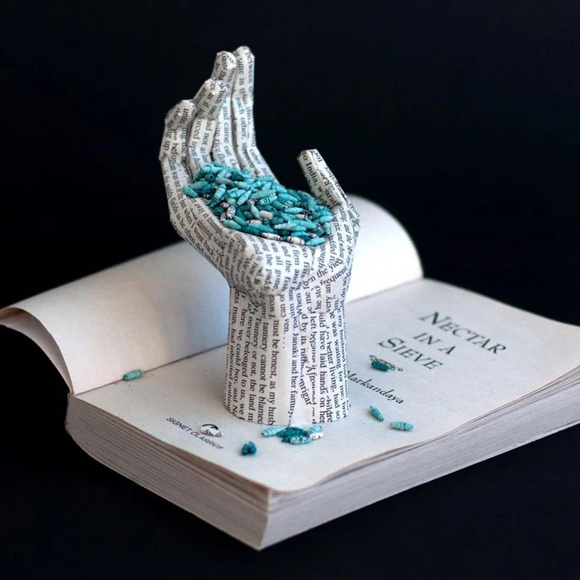 Bethany Bickley-Book pages turning into sculptures (6)