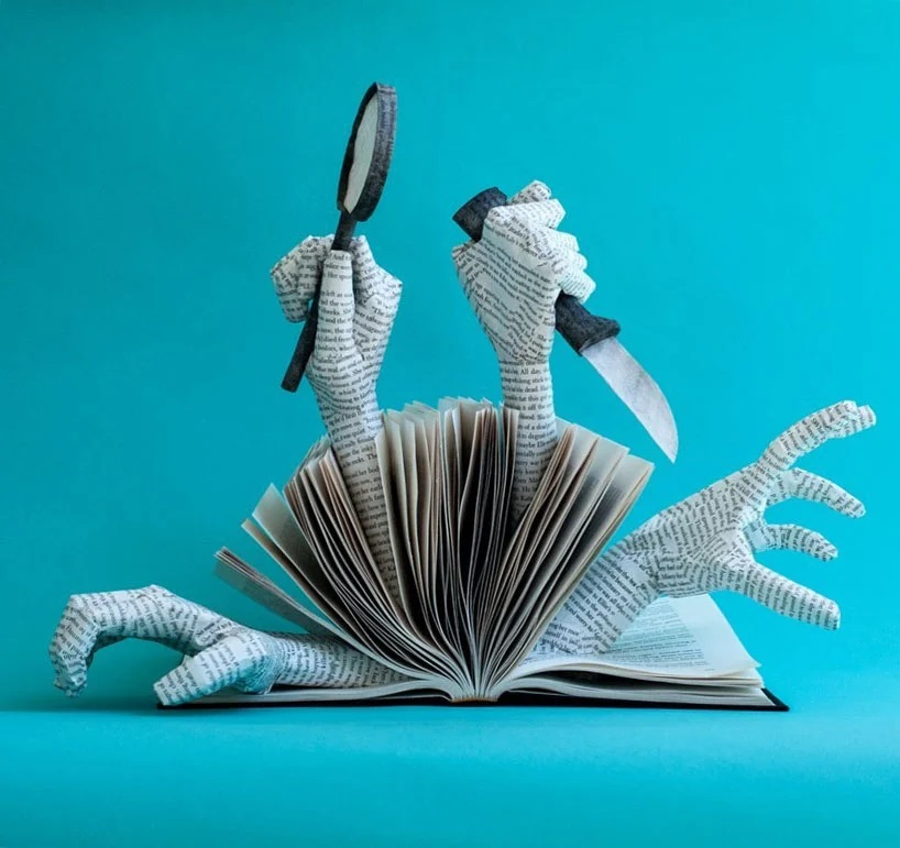Bethany Bickley-Book pages turning into sculptures (7)