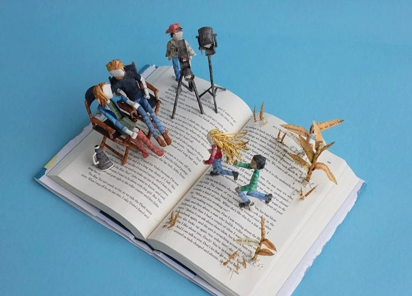 Bethany Bickley-Book pages turning into sculptures (8)
