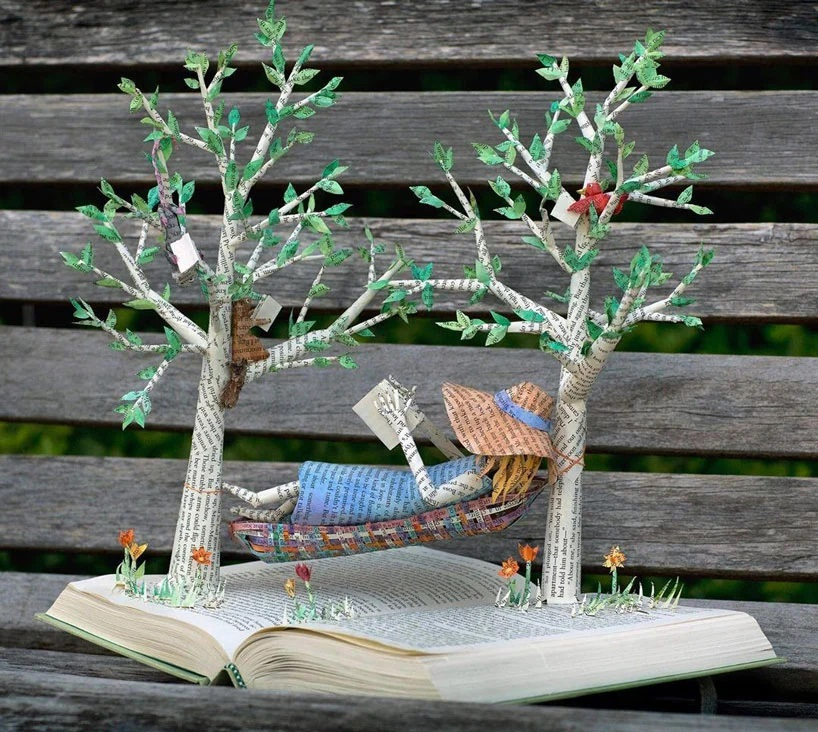 Bethany Bickley-Book pages turning into sculptures (9)