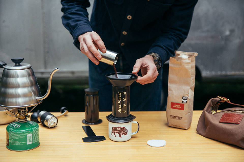 A delicious method of brewing coffee for those who use Stumptown Aeropress