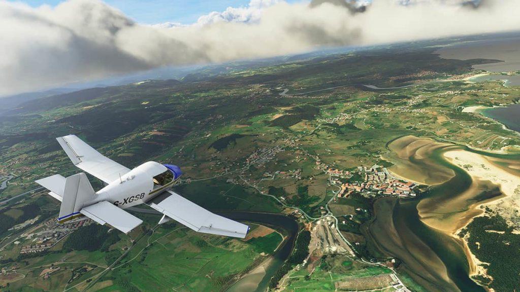 Flight Simulator 2020 screenshots vs. real world images msfs2020