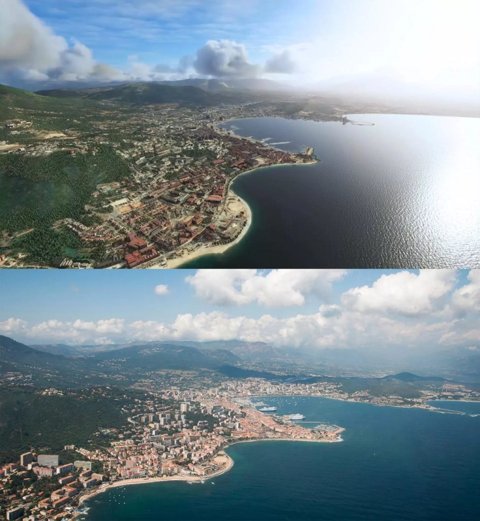 Flight Simulator 2020 screenshots vs. real world images4