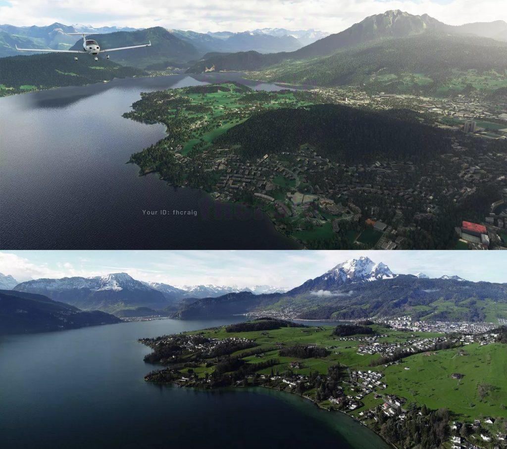 Flight Simulator 2020 screenshots vs. real world images5