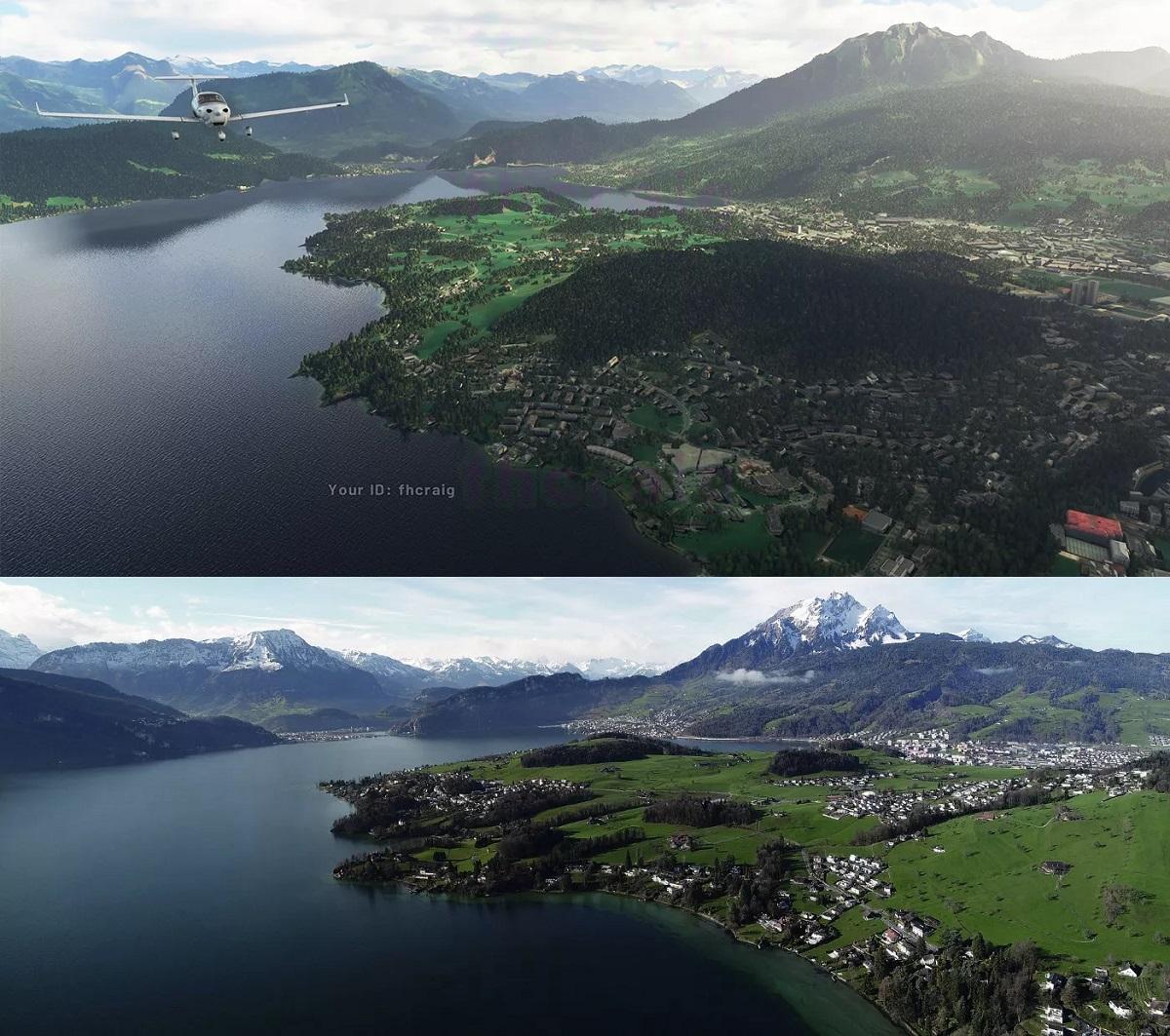 Flight Simulator 2020 screenshots vs. real world images ...