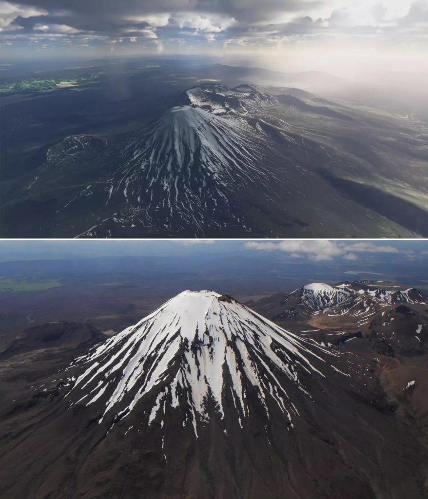 Flight Simulator 2020 screenshots vs. real world images6