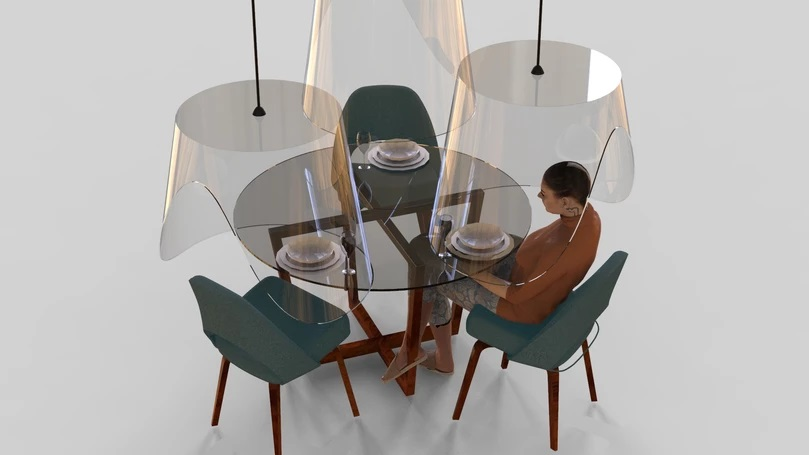 Restaurants of the future in accordance with the social distance rule (1)
